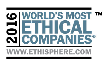 画像:2016 World's Most Ethical Companiesロゴ